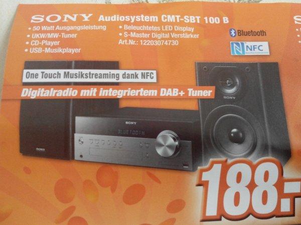 ( lokal Bonn )Sony Audiosystem CMT-SBT 100 B