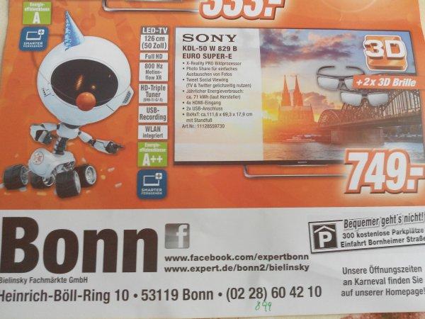 (lokal Bonn ) Sony KDL 50 W 829 B Euro super E