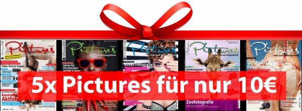 Jubiläums-Abo Pictures Magazin - Zeitschrift für Fotografiefans