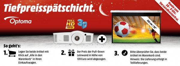 [MM Tiefpreisspätschicht] Optoma HD26 +  Optoma DS-9092PWC  Pulldownleinwand 16:9 für 599,-€ VSK frei