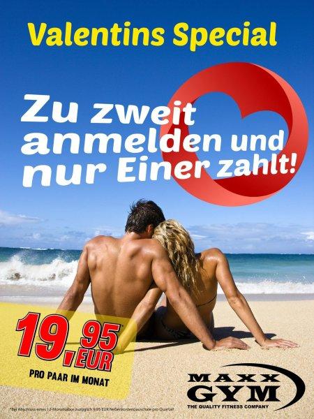MaxxGym Düsseldorf Fitnessstudio (eff. 11.63 € pro Monat) Valentins-Special Facebook-Aktion
