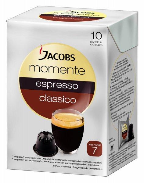[Prime] Jacobs Momente Espresso Kapseln 4x53gr (40 Stück) für 7,96€