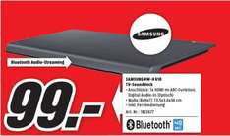 [Lokal Media Markt Gütersloh] Samsung HW-H610/EN 4.2 Soundbar mit Bluetooth schwarz DE für 99,-€..über 50% billiger als Idealo