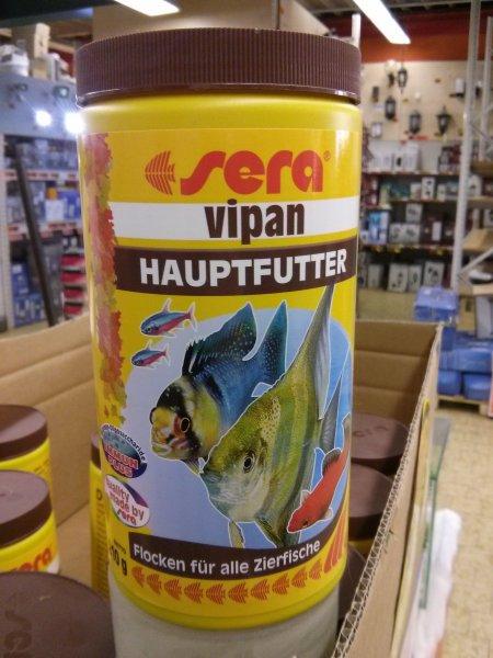 [lokal Hornbach Karlsruhe] Sera Vipan Hauptfutter für Zierfische (Fischfutter) 1000ml