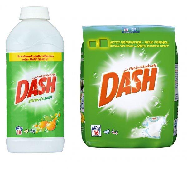 [IHR PLATZ] Dash Vollwaschmittel Flüssig/Pulver 16/18WL versch. Sorten für 1,99€ = 0,11€/WL (Angebot + Coupon)