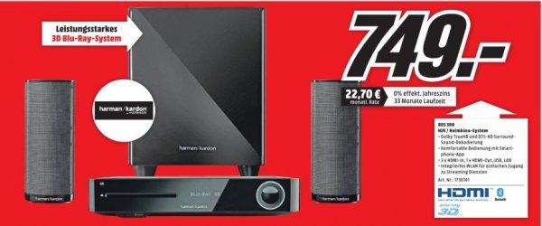 [Lokal MediaMarkt PortaWestfalica] Harman/Kardon BDS 380 Heimkinosystem, Blu-ray-Player, 330 W, 3D-fähig, WLAN, NFC, Bluetooth für 749,-€