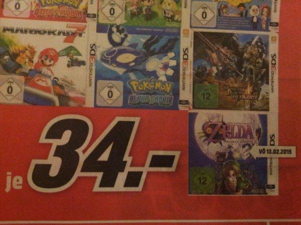 [MM Porta Westfalica] Zelda Majoras Mask 3ds für 34€   und weitere Spiele zum gleichen Preis