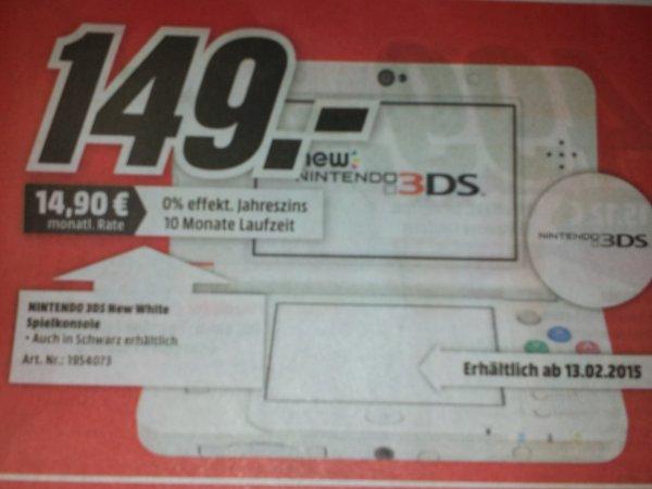 [MM Porta Westfalica] New Nintendo 3ds in weiß und schwarz für 149,00€