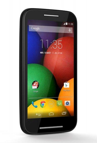 Motorola Moto E , 4,3 Zoll, 5 MP Kamera , 1,2 GHz Dual-Core, 4GB, Dual Sim ) schwarz inkl .Vsk 76,57 € > [amazon.fr] > WHD