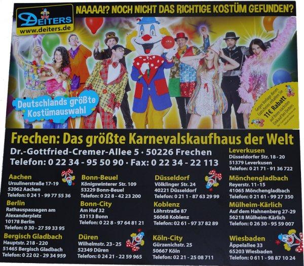 11€ Gutschein für Deiters (offline einlösbar) bei meinkarneval