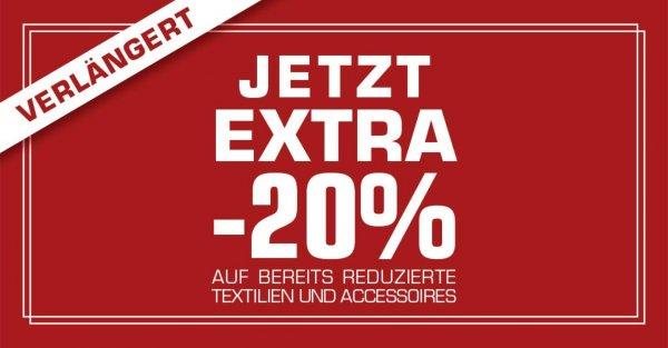 [SNIPES Offline] zusätzlich 20 % auf reduzierte Kleidung/Accessoires
