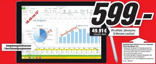 [Lokal Karlsruhe] - MediaMarkt, Microsoft Surface Pro 3 - i3, 64GB, 4GB RAM