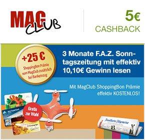 3 Monate F.A.Z. Sonntagszeitung mit 10,10€ Gewinn (über Qipu) @MagClub