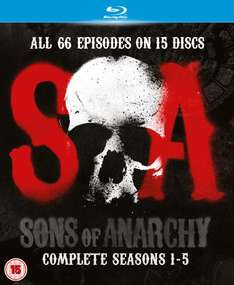 [Zavvi] Sons of Anarchy 1 bis 5 Blu Ray OV 40.79€
