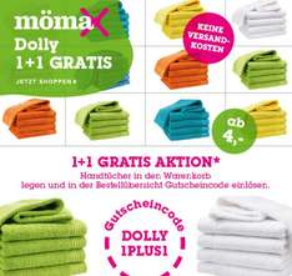 mömax 4 Handtücher 100x50cm für 8€ inkl. Versand