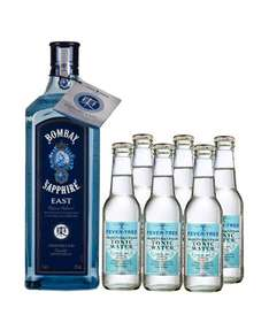 [Gourmondo.de]  Bombay Sapphire East 1l Gin + 6x Fever-Tree Mediterranean Tonic abzgl 3% Newsletter + Qipu