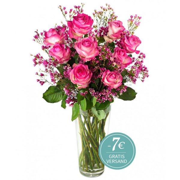 """Blumenstrauß """"Rosige Aussichten"""" für 16,80€ inkl VSK und rechtzeitiger Lieferung bis Valentintstag @miflora"""
