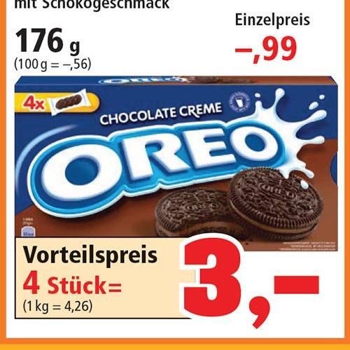4 Packungen Oreo Doppelkeks mit Schokocreme 176g (große Packung) [Philipps] Damit pro Packung nur noch 75 Cent!