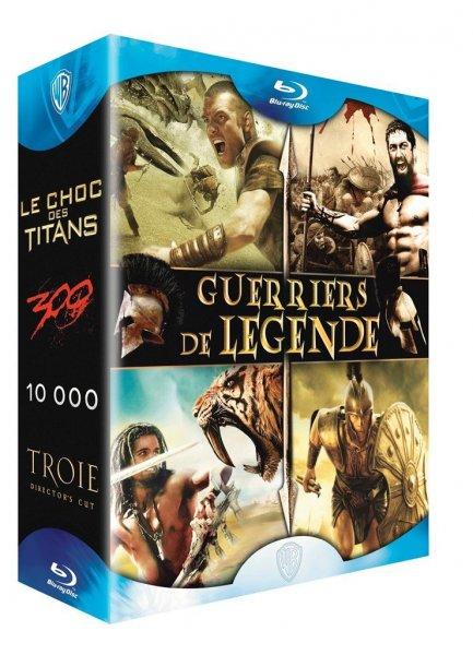 Blu Ray Box - Kampf der Titanen + 10.000 BC + 300 + Troja für 13,96€ @Amazon.fr