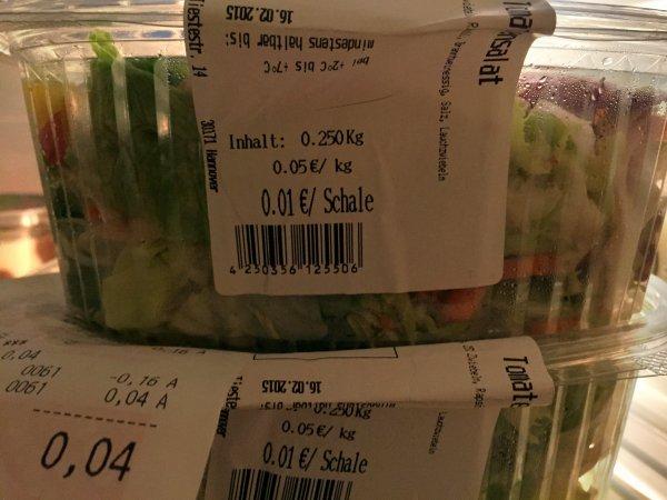 [Lokal EDEKA Hannover] Salat-Mix mit Tunfisch 0,01€/Schale (Preisfehler)