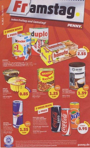 [ Penny ] Kinderriegel , Hanuta und Duplo im Doppelpack( 2 x 11 Stück ) je 2,55€ ab 20.02