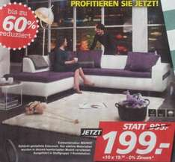 [Seats and Sofas] | 60% Rabatt (scheinbar mehr ...) | gültig im Februar 2015
