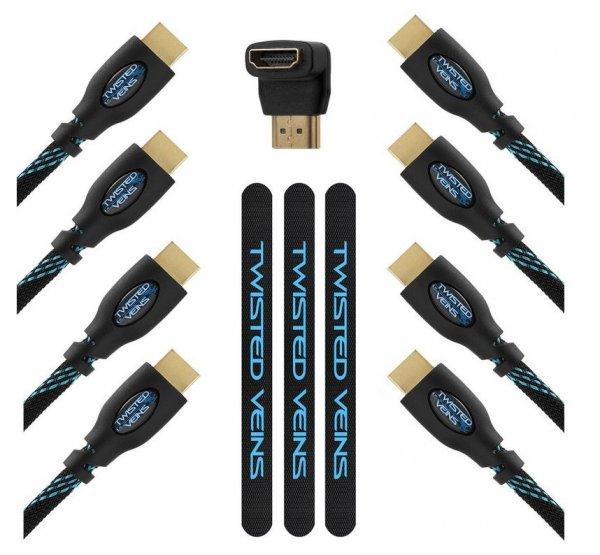 4 HDMI Kabel von Twisted Veins (3x 1 Meter und 1x 3 Meter) für 6,52€ (Prime Mitglieder)