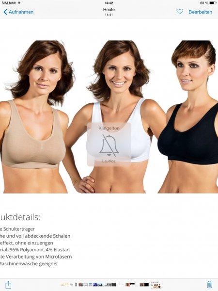 4er-Pack Sport-BH PERFECTfit BRA in 3 Farben für 14,89€ für die sportlichen Mädels unter uns