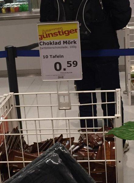 IKEA Würzburg - 10 Tafeln Schokolade für 59ct