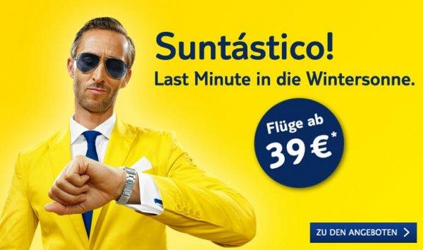 [TUIfly]  Last Minute in die Wintersonne ab 39 Euro