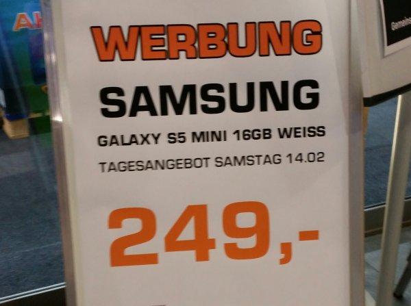 Samsung Galaxy S5 Mini weiß für 249€ @ Saturn (nur Esslingen?) - nur am 14.02.