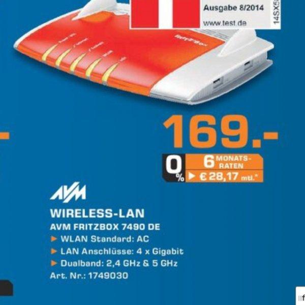 AVM Fritzbox 7490 - 169 Euro - @Saturn Bochum, Witten, Hattingen