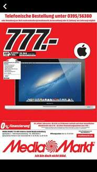 """[Lokal - MM Neubrandenburg] Apple MacBook Pro13.3"""" - Core i5-3210M, 4GB RAM, 500GB HDD (MD101D/A) [Mid 2012]"""