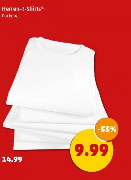[Penny] 6er-Pack einfache Herren-T-Shirts S/W; Stückpreis 1,67€