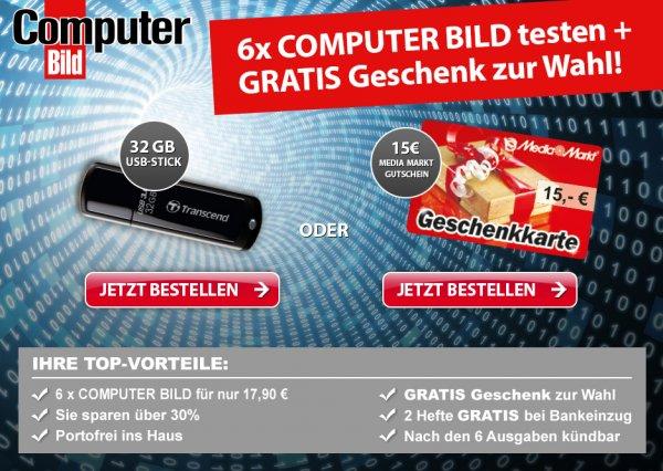 6 (8) x Computer Bild mit DVD für 17,90 Euro incl. 15 Euro Media Markt Gutschein