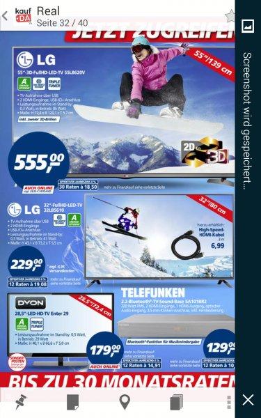 LG 55 lb 620 v bei Real
