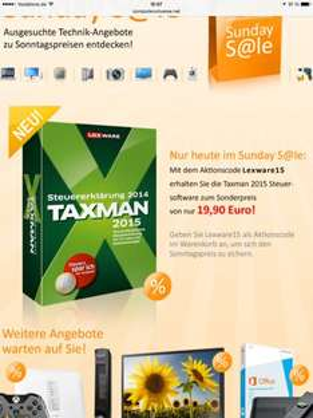 Taxman Steuersoftware 2015 mit DVD und Handbuch... Auf computeruniverse.net gefunden
