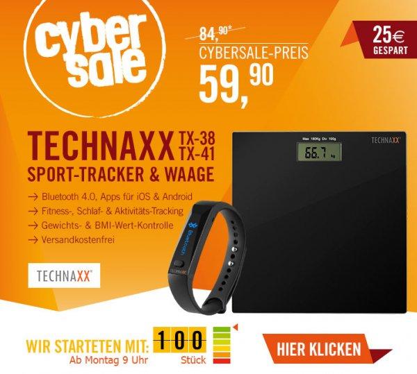 [Cyberport] CyberSale Montag: Fitness-Tracker & Waage (TX-38/TX-41) für 59,90