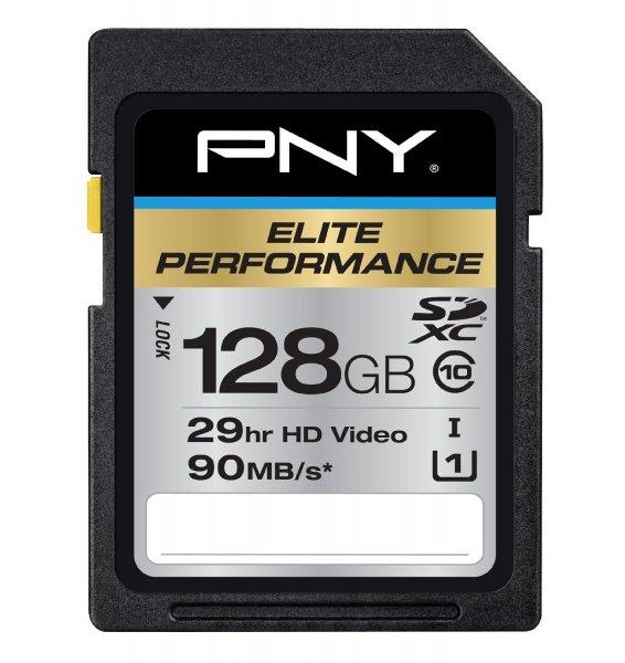 PNY 128GB Elite Performance SDXC Class 10 (90MB/s) für 58,40€ bei Amazon.com