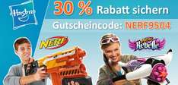 [Baby-markt.de] Nerf-Sale....30% Rabatt auf alle Nerf + Nerf Rebelle Produkte + Kostenlosen Versand ab 20€