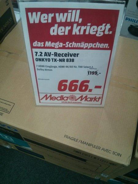 [lokal MM Berlin Steglitz] Onkyo TX-NR 838 7.2 Dolby Atmos Netzwerkreceiver Idealo: 796€