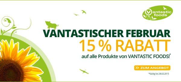 Alles Vegetarisch - 15% auf alle Produkte von Vantastic Foods
