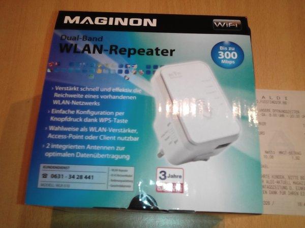 Wlan- Repeater Maginon WLR 510 fur 12€ @ Aldi Ahaus