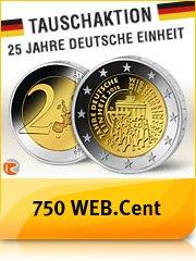 [Webcent] Münztauschaktion 5x2€ + 750 WEB.Cent für 12,95