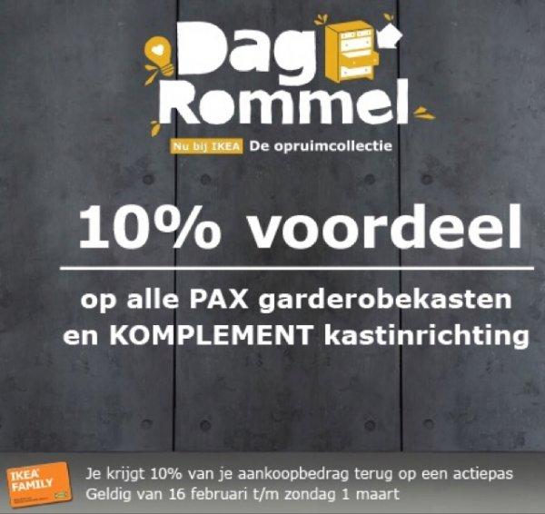 10% Gutschein für PAX/Komplement Einkauf (IKEA Family Holland)