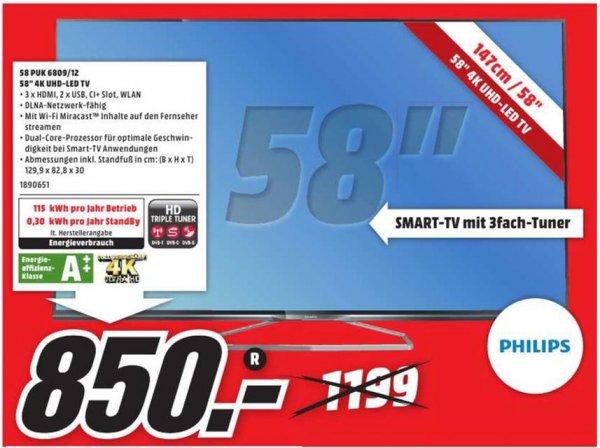 [Lokal Deggendorf MM] Philips 3D LED-TV UHD 58PUK6809/12