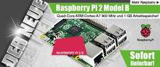 Raspberry Pi 2 Model B, 4x 900 MHz, 1 GB RAM
