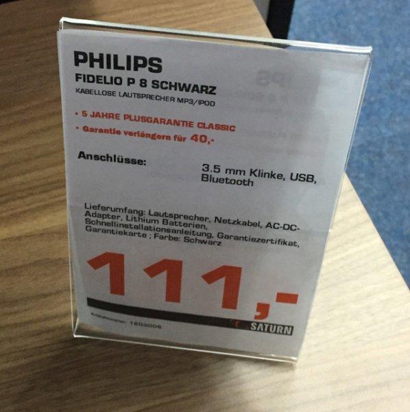 [Saturn Kiel] Philips Fidelo P8 Lautsprecher