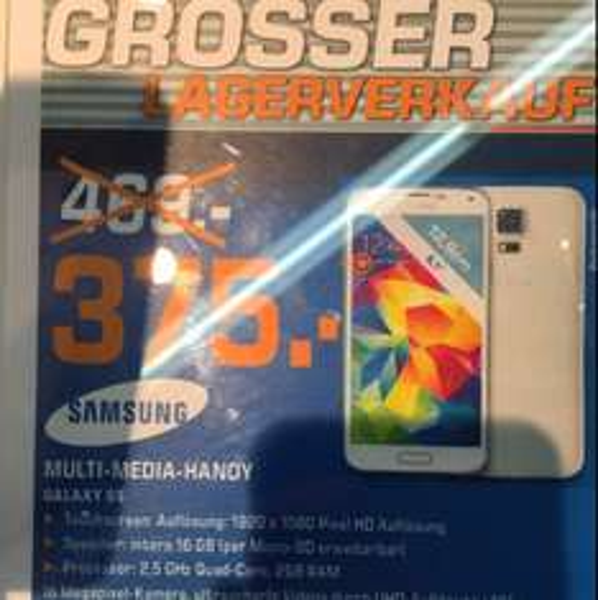 Lokal: Samsung S5 für 375€