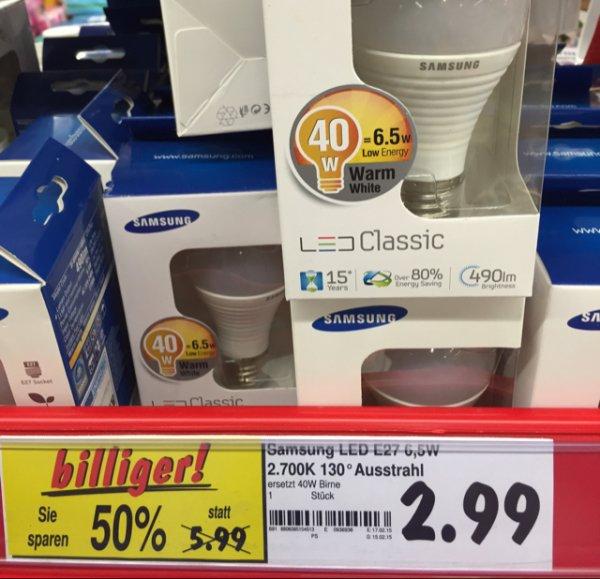 Lokal Dortmund  Kaufland Samsung E27 Classic  LED Glühlampe Warmwhite 6.5W